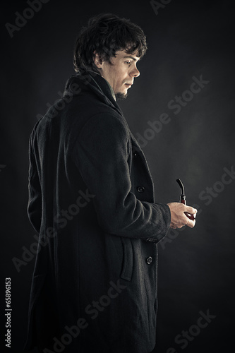 a young man in the image of Sherlock Poster