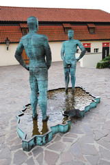 PRAGUE, CZECH REPUBLIC - AUGUST 28, 2011: Fountain in the form o