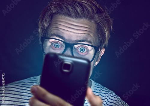 Leinwandbild Motiv Smartphone Junkie