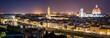 canvas print picture - Panorama Florenz bei Nacht