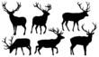 deer silhouettes - 65897987