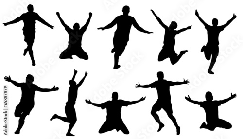 celebration silhouettes - 65897979