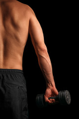 Man with dumbbell
