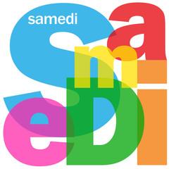 """SAMEDI"" (agenda calendrier semaine jour date heure réunion)"