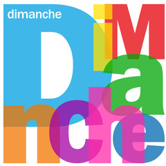 """DIMANCHE"" (agenda calendrier semaine jour date heure week-end)"