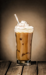 Iced coffee float or milkshake
