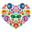 Polish olk art art heart embroidery  - wzory lowickie