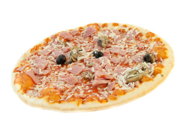 beautiful italian capricious pizza