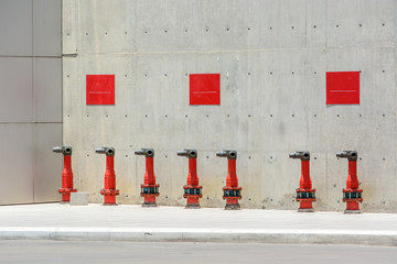 Row of fire hydrant
