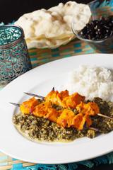 indisches Hühnchen-Fleisch-Spieße