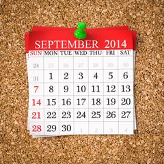 September 2014  Calendar