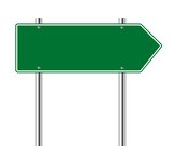 Green arrow to the right road sign