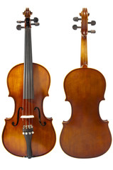 Two violins on white background