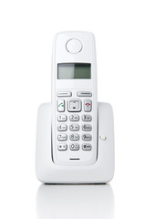Wireless phone on white background