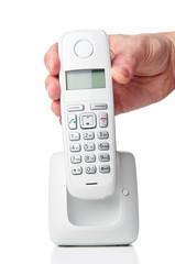 Hand holding wireless phone