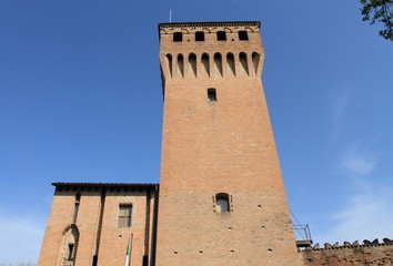 ruins of a historical fortress in Modena