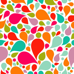 Abstract colorful drop background, seamless pattern
