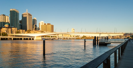 Brisbane, Queensland, skyline at sunset
