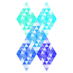 Geometric background, blue trinagles