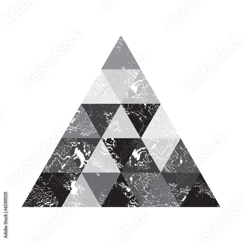 Grunge background, triangles © kovalto1