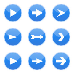 Blue arrows, vector illustration