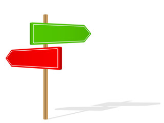 BLANK SIGNPOSTS (template red green road signs)