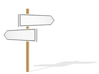 BLANK SIGNPOSTS (template decision-making road signs)