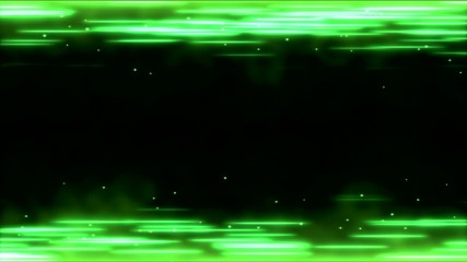 Bright Lines Animation - Loop Green