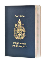 Canadian passport isolated on white