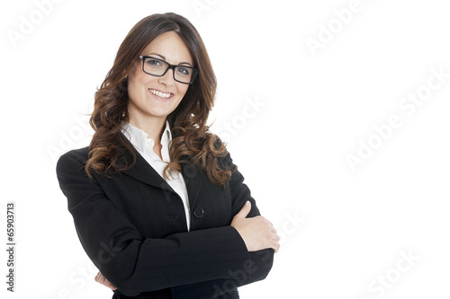 Fototapeta Portrait of a young attractive business woman