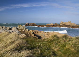 Coastal scene on guernsey,