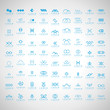 Unusual Icons Set - Isolated On Gray Background