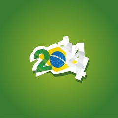 Algeria in Brazil 2014 vector