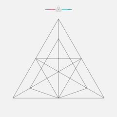 Geometric shape, vector triangle isolated