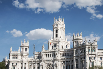 The City Hall of Madrid or the former Palace of Communications,
