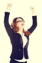 Success, winner businesswoman