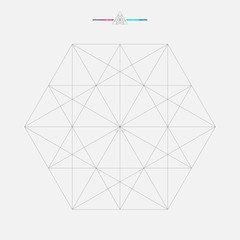Geometric element, triangle illustration