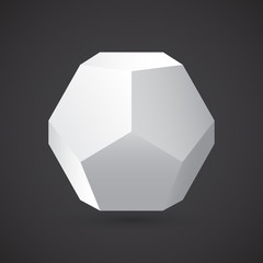 Dodecahedron, vector illustration