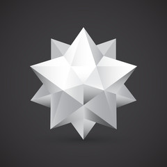 Polyhedron, vector illustration