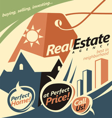 Promotional document template for real estate agent