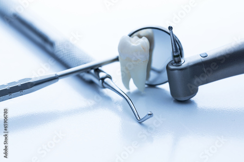 canvas print picture Dental medicine dentist equipment