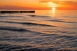 canvas print picture - Sunset at the Baltic Sea