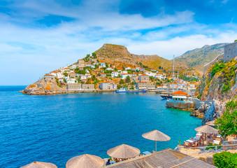 The nautical club of Hydra island in Greece