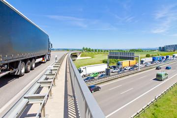 Logistik - Autobahn A 8, Stuttgart