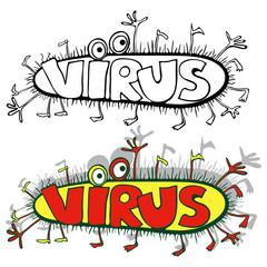 Вирус.Карикатура.