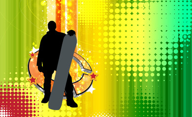 Snowboarder. Vector