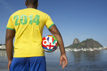 Brazilian Soccer Football Player Standing in Rio