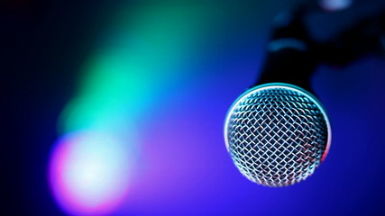Microphone and concert lights