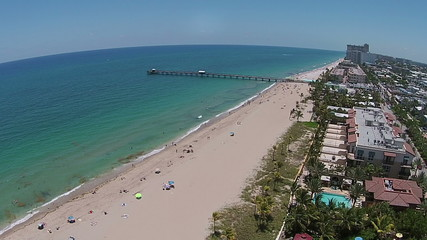 Aerial voew of South Florida beach