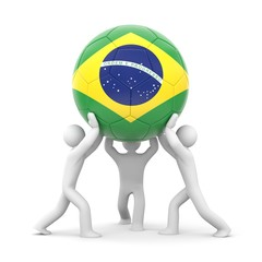 Sport concept. Ball with Brazilian flag